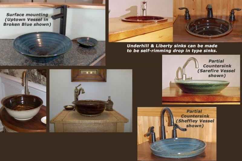 Choose a sink style and monting method