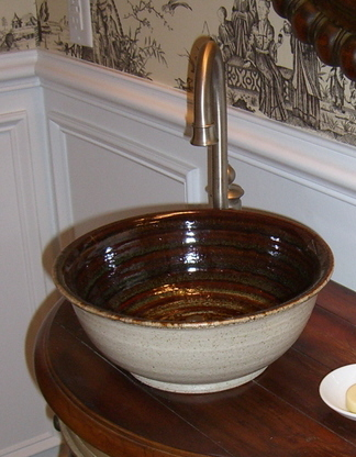 Small Custom Pottery Sink - bowl sink