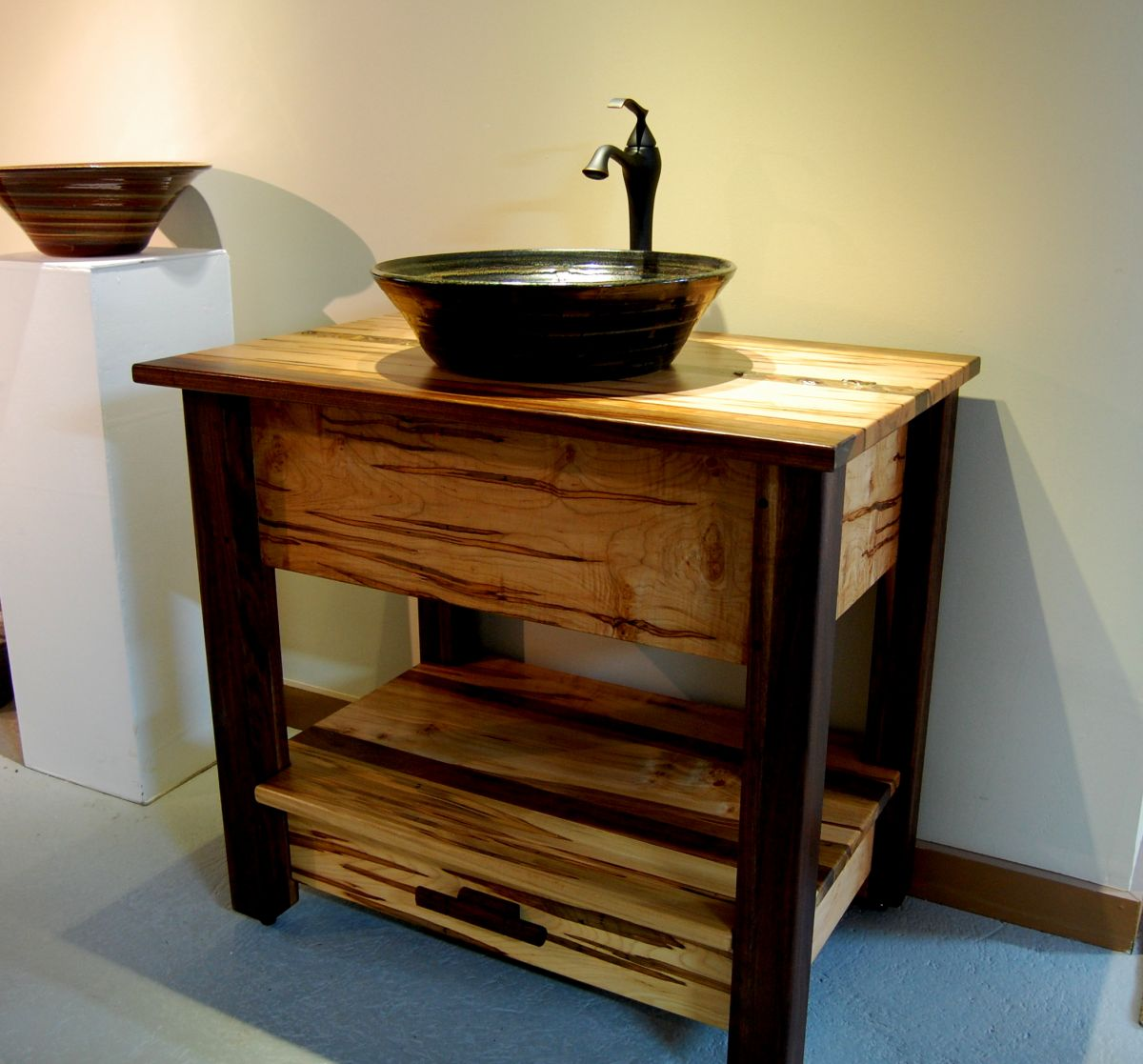 Custom Rustic Maple Vanity