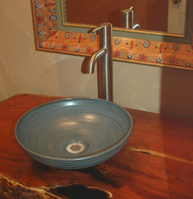 Vessel Style Bathroom Sinks : ... SInks - Hand made Sink - Artist made sink - bowl sink - rustic sinks