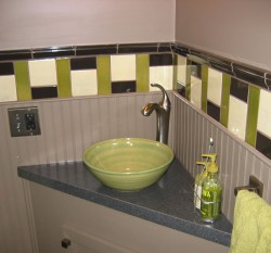 Sarefire Sink in Hot Lime Glaze