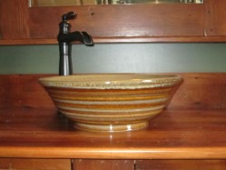 Florence Sink in Honey Rose and Rutile